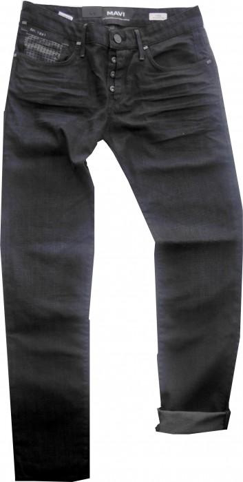 mavi herren jeans blueblack rinse coated slim fit yves311101 hosen jeans. Black Bedroom Furniture Sets. Home Design Ideas